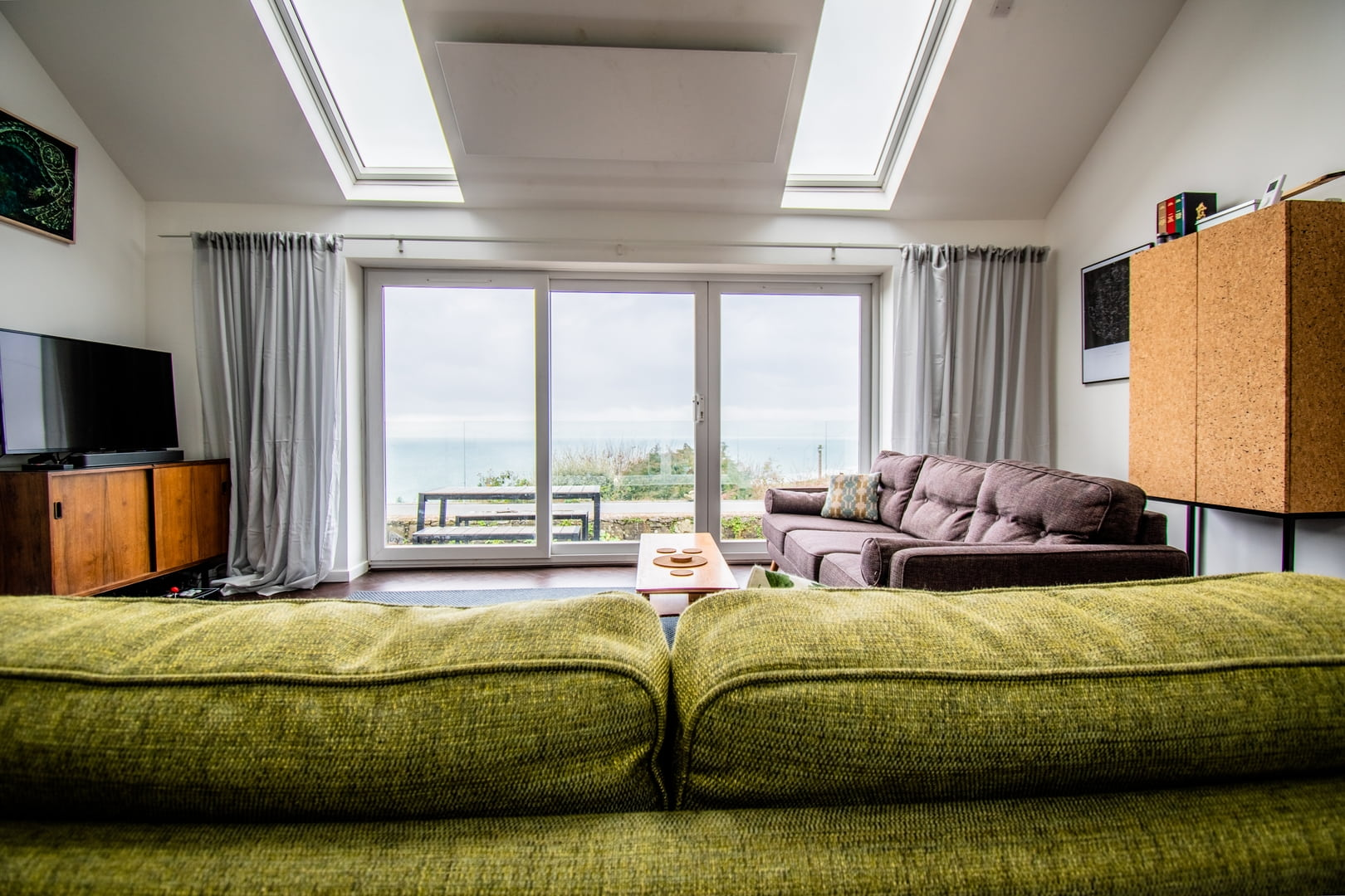 Sea views from the living area